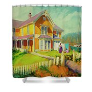Sophie And Rose Shower Curtain by Steve Henderson