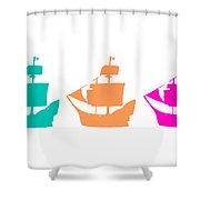 Sorbet Ships Shower Curtain