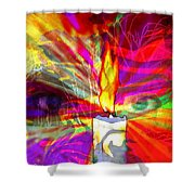 Sorcerer's Candle Shower Curtain
