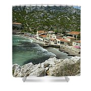 Sormiou Creek In The Calanque Shower Curtain