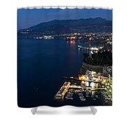 Sorrento Bay At Night Shower Curtain