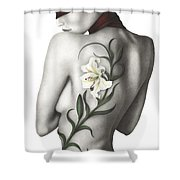 Sorrow Shower Curtain by Pat Erickson
