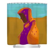 Sorrowful Mother Of The Past And Present Shower Curtain