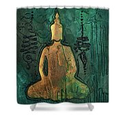 Sotapanna 1 Buddha Painting With Unalome Symbols Shower Curtain
