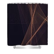 Soul Computer Graphic Line Pattern Shower Curtain