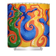 Soul Figures 3 Shower Curtain