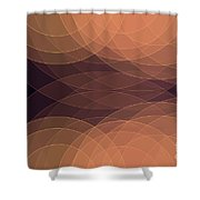 Soul Semi Circle Background Horizontal Shower Curtain