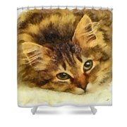 Soulful Eyes Shower Curtain