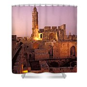 Sound And Light Show At Jerusalem City Shower Curtain