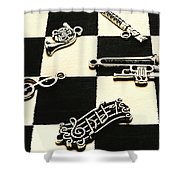 Sound Cheque Shower Curtain
