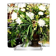 Sound Of Flowers Shower Curtain