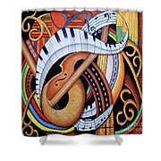 Sound Of Soul Strings Shower Curtain