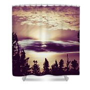 Sound Of The Sun Shower Curtain