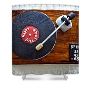Record Player Cake Shower Curtain