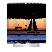 Sound Sailin 2 Shower Curtain