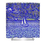 Sound Sailin 3 Shower Curtain