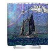 Sound Sailin 5 Shower Curtain