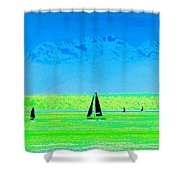 Sound Sailin Shower Curtain