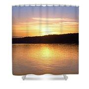 Sound Sunset Shower Curtain
