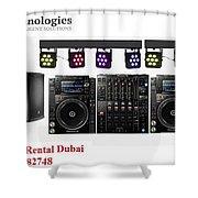 Sound System Rental Dubai - Rent,lease,hire Sound System Dubai Shower Curtain