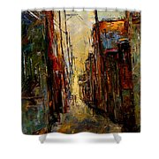 Sounds In The Alley Shower Curtain