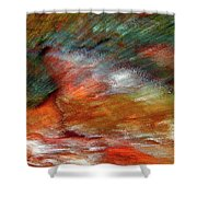 Sounds Of Thunder Abstract Shower Curtain