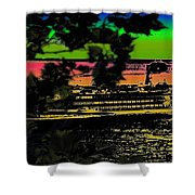 Soundside Treehouse View Shower Curtain