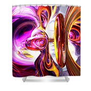 Soundwave Abstract Shower Curtain