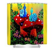 Soupy Snails Shower Curtain