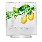 Sour Lemons Shower Curtain
