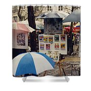 Sous La Parapluie Shower Curtain