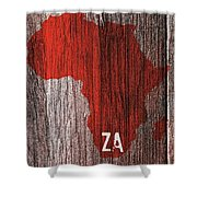 South Africa Red Shower Curtain
