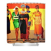 South African Beauties Shower Curtain
