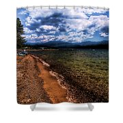 South Beach At Priest Lake Shower Curtain
