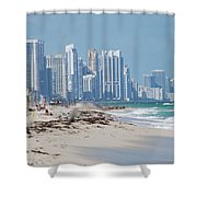 South Beach Baby Shower Curtain
