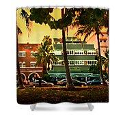 South Beach Ocean Drive Shower Curtain by Steven Sparks