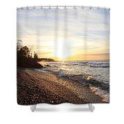 South Beach Sunset Shower Curtain