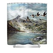 South Before Winter Shower Curtain
