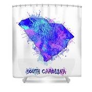 South Carolina Map Watercolor 2 Shower Curtain