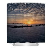 South Caroline Sunset Shower Curtain by Tom Singleton