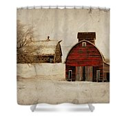 South Dakota Corn Crib Shower Curtain