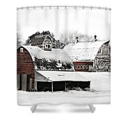 South Dakota Farm Shower Curtain by Julie Hamilton
