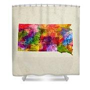 South Dakota State Map 02 Shower Curtain