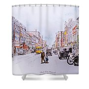 South Elm Street 1918 Shower Curtain