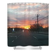 South End Sun Rise Shower Curtain