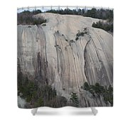 South Face - Stone Mountain Shower Curtain