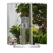 South  Florida 5 Shower Curtain