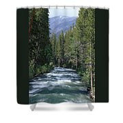 South Fork San Joaquin River - Kings Canyon National Park Shower Curtain