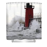 South Haven Lighthouse 3 Shower Curtain