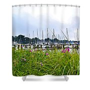 South Haven Marina Shower Curtain